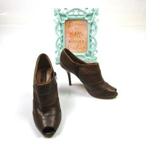 Zara Woman Collection Sz 9 Peep Toe Ankle Booties